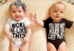 sleep regressions twin babies lying on a pillow