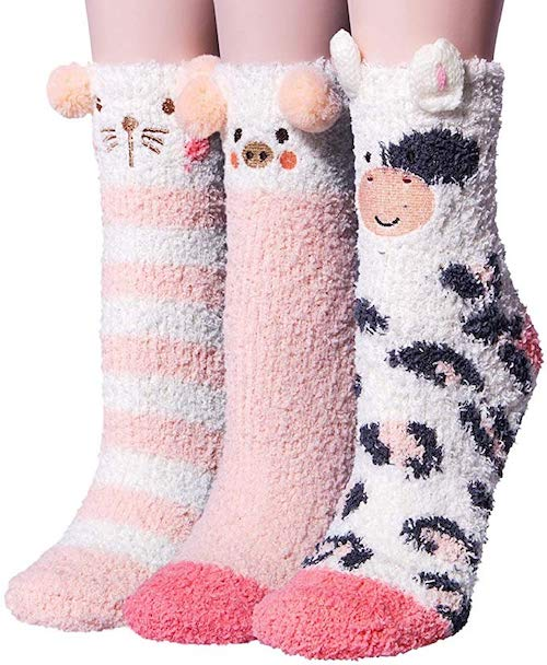 fuzzy socks stocking stuffers for kids