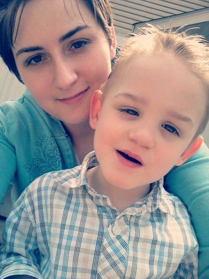 mom and little boy autism