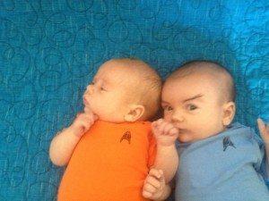Captain Kirk and Mr. Spock from Star Trek