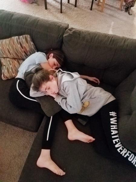 teen girls sleeping Teen Twin Bond