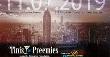 'tinis for preemies graham's foundation fundraiser