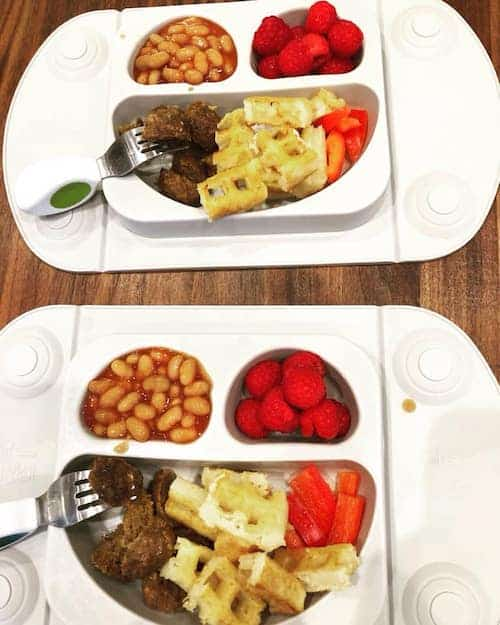 toddler lunch ideas two plates of food