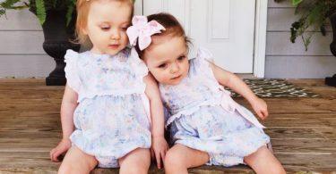 love having twins toddler girls
