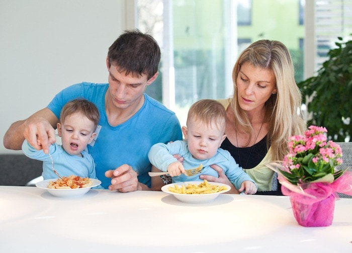 parents and toddlers eating Get Your Kids to Eat