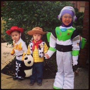 Jessie, Woody and Buzz from Toy Story