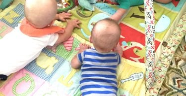 tummy time with twins