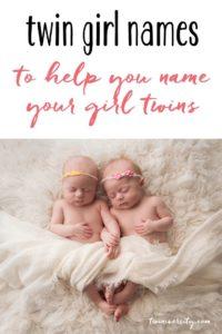 twin girl names