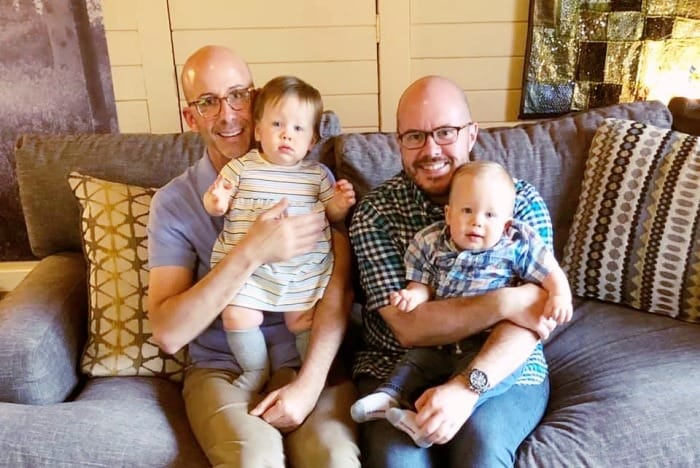 gay twin dads with twins