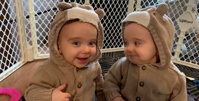 twins 10 months old