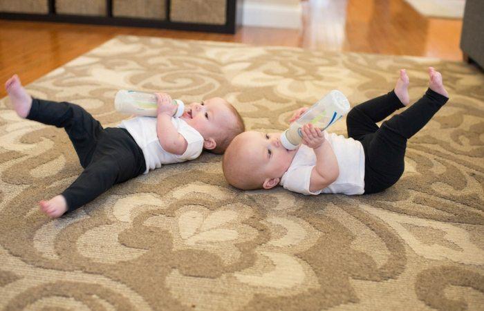 bottle feeding twins