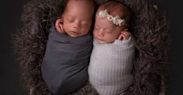 newborn twins sleeping working parents of twins