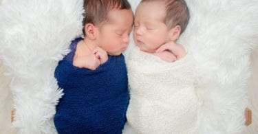 newborn twins sleeping identical twin pregnancy