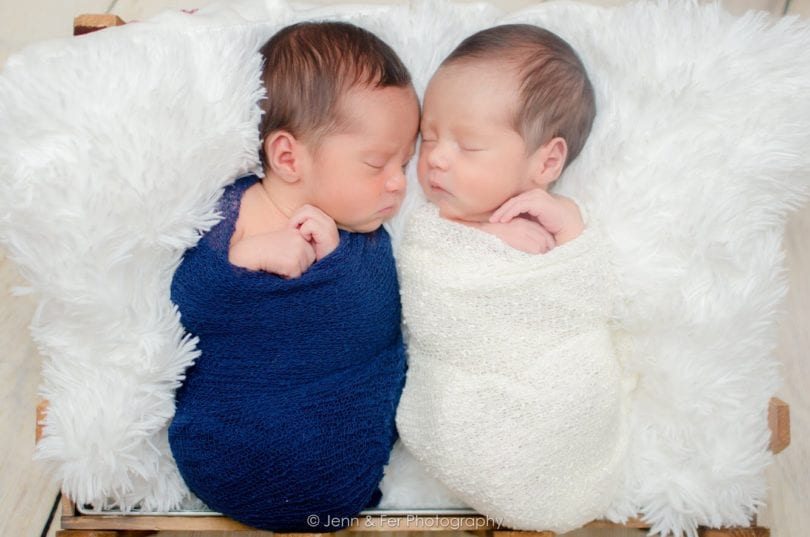 newborn twins sleeping identical twin pregnancy