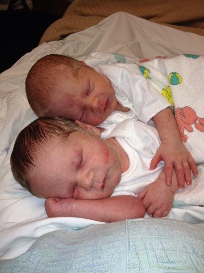 newborn twins sleeping zero help