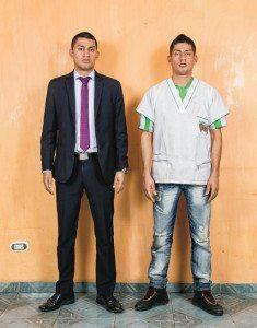Carlos Alberto Bernal Castro and Wilber Cañas Velasco. Credit Stefan Ruiz for The New York Times