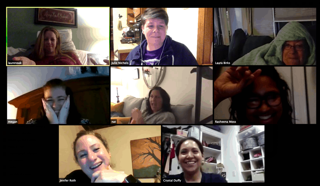 virtual baby shower on zoom