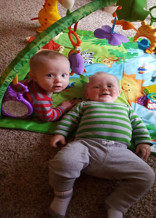The First Year with Twins 4 Months Old