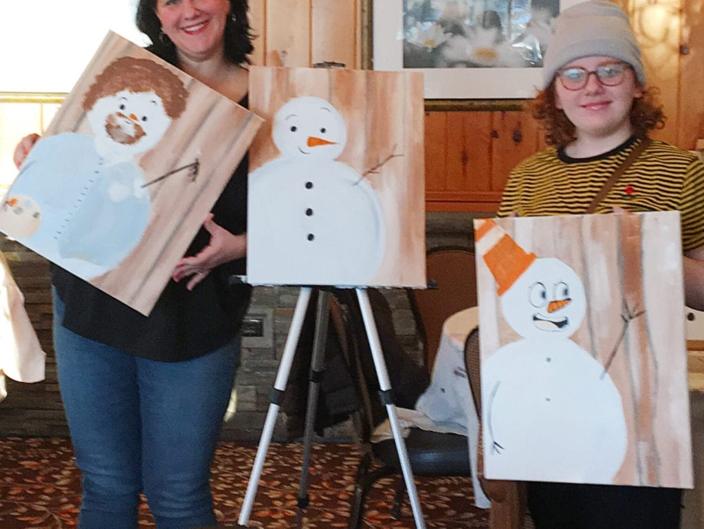 paint and sip at woodloch